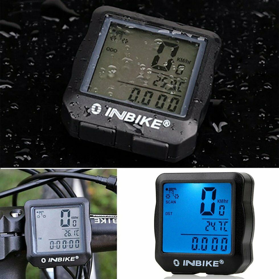 Digital Bicycle Bike LCD Cycling Computer Odometer Speedometer Stopwatch New Q1