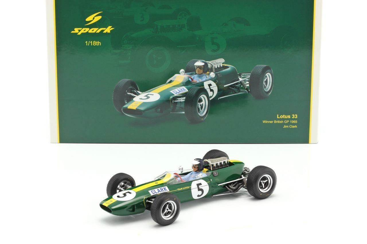 WINNER GP ANGLETERRE 1965-18S416 LOTUS 33 SPARK 1//18