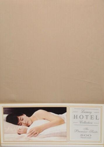 """Lit double drap housse vison beige 16/"""" deep 100/% coton 800 fils au pouce de luxe"""