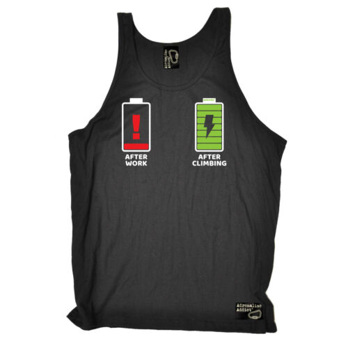 After Work After Climbing Rock Climbing Vest Funny Novelty Singlet Jersey Top