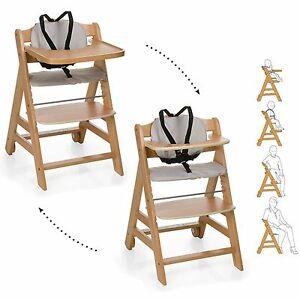 hauck natural beige beta grow with your child wooden high chair