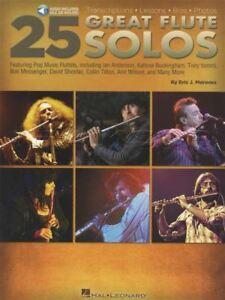 à Condition De 25 Great Flute Solos Partitions Livre Audio/ann Wilson Ernie Watts Curtis Amy-afficher Le Titre D'origine Soyez Astucieux Dans Les Questions D'Argent