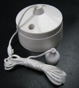 6 Amp Pull Cord Bathroom Lamp 1 Gang 1 Way Ceiling Pull ...