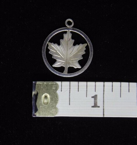 STERLING SILVER LEAF THEMED CHARMS MINIATURE FIGURINE PENDANT YOUR CHOICE!