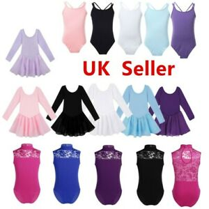 UK-Kids-Girls-Ballet-Dance-Tutu-Gym-Leotards-Dress-Ballerina-Dancewear-Costumes