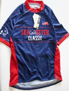 New Primal Women/'s Sea Otter Classic Large Blue Raglan Cycling Bike Jersey
