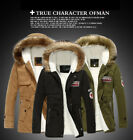 2017 New Winter Men Fur Collar Hooded Thick Padded Jacket Men's Warm Long Coat