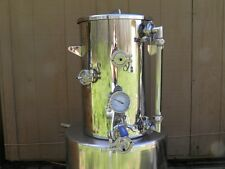 9.2 Gallon Hot Liquor Tank, Thermometer, Sight Glass & HERMS Coil Home Brewing,