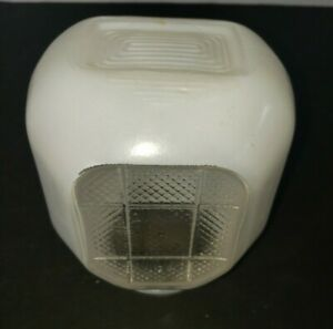 Vintage Art Deco Style White Frosted Glass Porch Bathroom Light Globe Fixture
