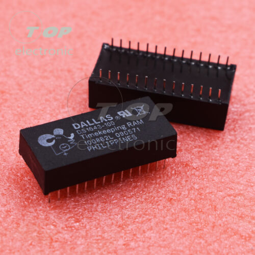 1PCS//5PCS DS1643-100 DS1643 Encapsulation:DIP Nonvolatile Timekeeping RAM 28PINS