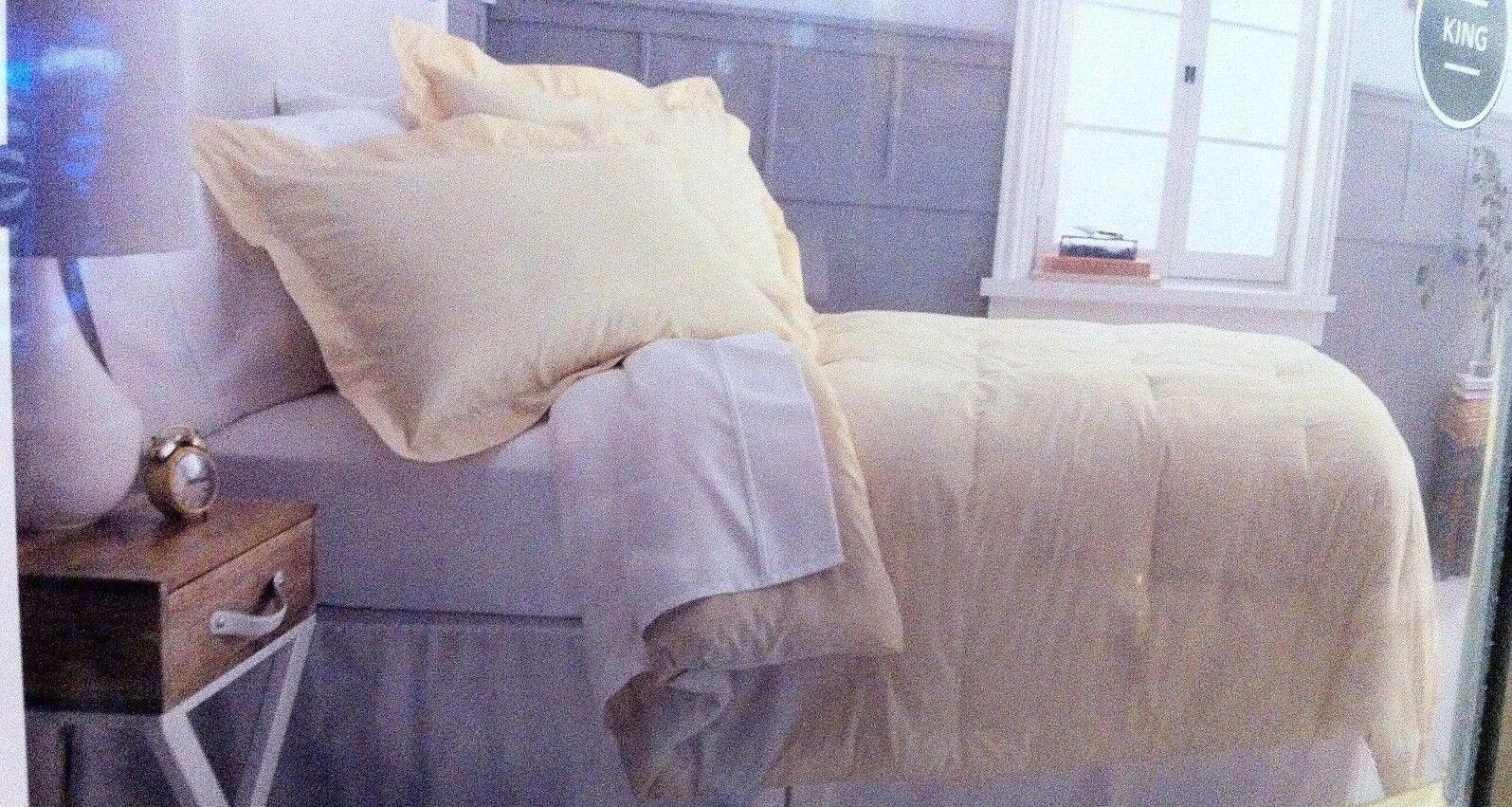New Threshold King 3 Pc Cotton Comforter Set Gelb Gold