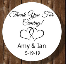 30 Thank you for coming bridal shower stickers favors labels wedding