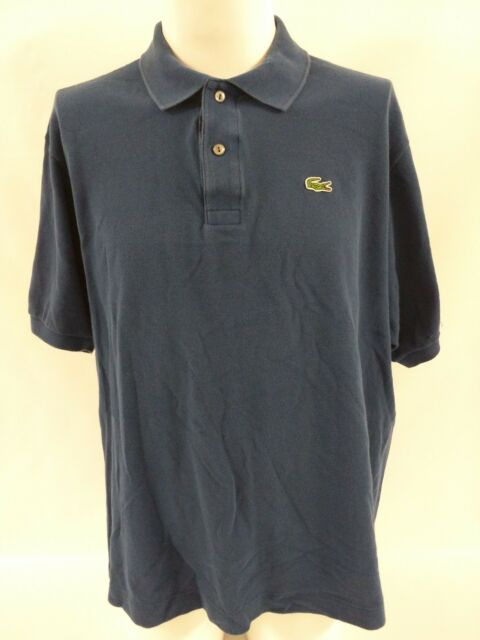 b71aeb50b12b8c Lacoste Polo Collar Shirt Alligator Logo Navy Blue Men's Size 9 XXXL 3XL