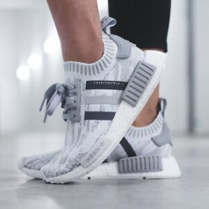sneakers for cheap 68e30 18bae Details about Adidas NMD R1 Primeknit Glitch Camo Womens BY9865 Grey  Running Shoes Sz 6.5-8.5