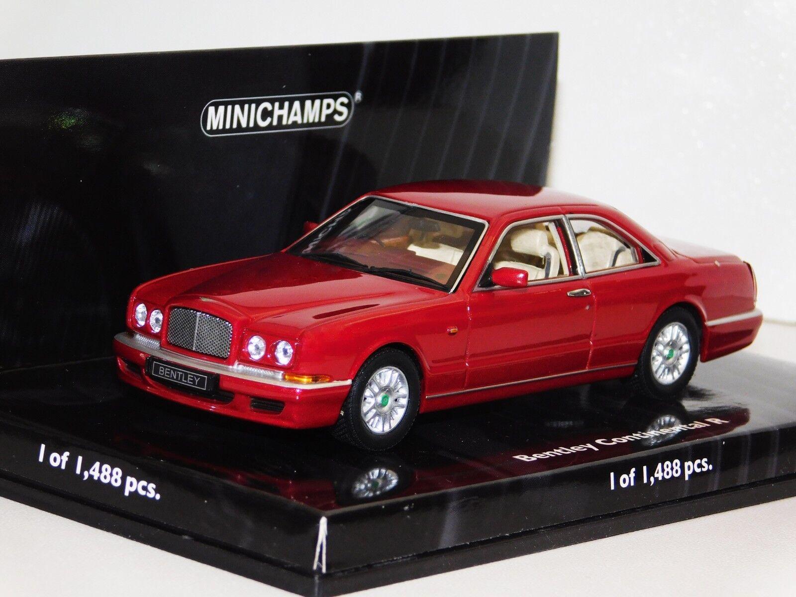 tomamos a los clientes como nuestro dios Bentley Continental Continental Continental R Rojo Metálico 1996 Minichamps 436139920 1 43  promociones de descuento