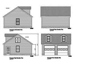 24x24 2 Car Garage Plan Gable Opposing Roof W Dormers