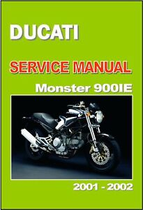 ducati workshop manual m900 ie m900ie monster 2000 2001 2002 rh ebay com ducati monster 600 service manual ducati monster workshop manual pdf