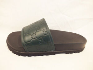 c8aa902b0 Image is loading NIB-AUTH-GUCCI-Men-GUCCISSIMA-Leather-slides-sandals-