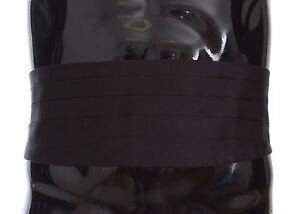 3c2a34c4a4 NEW $380 DOLCE & GABBANA Cummerbund Black Mens Waist Wide Belt Silk ...