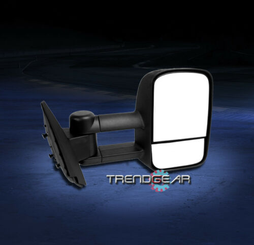 1997-2003 FORD F150 PICKUP TOWING TELESCOPING POWER MIRROR BLACK PASSENGER RIGHT