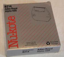 Nukote Model B214 Adler Royal Alpha 600 of 6 for sale online