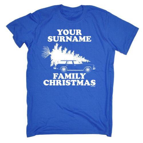 Personalizzata Cognome Famiglia Natale T-Shirt Santa Personalizzato Di Natale Regalo