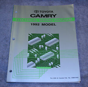 details about 1992 toyota camry electrical wiring diagram service repair manual ewd124u 1989 Toyota Camry Electrical Wiring Diagram