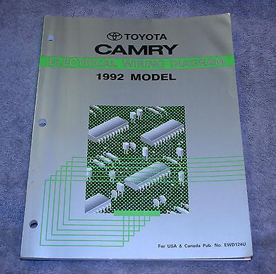 [SCHEMATICS_43NM]  1992 Toyota Camry Electrical Wiring Diagram Service Repair Manual - EWD124U  - | eBay | 1992 Toyota Camry Electrical Wiring Diagram Guide Handbook |  | eBay
