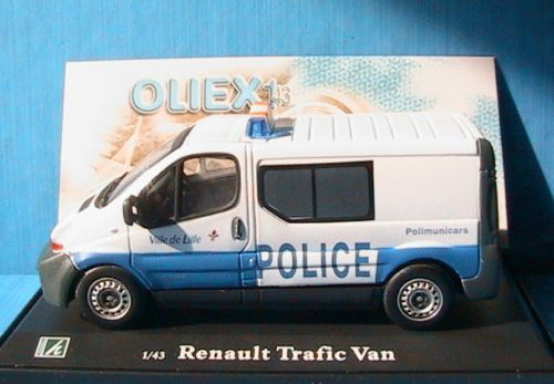 RENAULT TRAFIC 2 DCI100 TOLE POLICE MUNICIPALE LILLE OLIEX 1 43 CARARAMA VAN