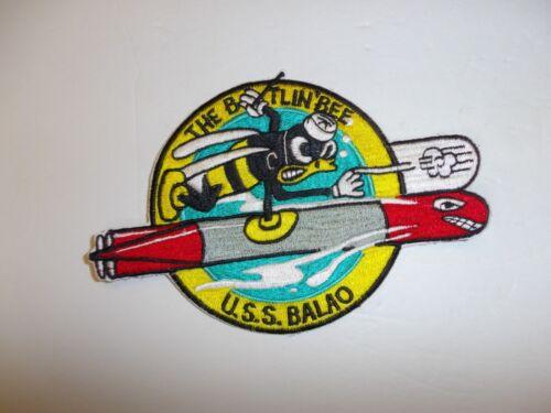 b4664 WW 2 US Navy Submarine Patch USS Balao The Battlin Bee Sub IR35F