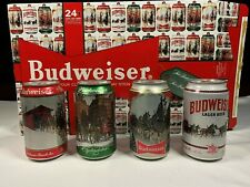 Budweiser Limited Edition Holiday Stein Beer Cans - Comp Set of 4 The Clydesdale