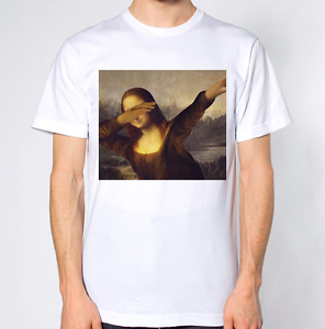 97bcc1fec913 Details about Mona Lisa Dabbing T-Shirt Dab Dance Funny Top