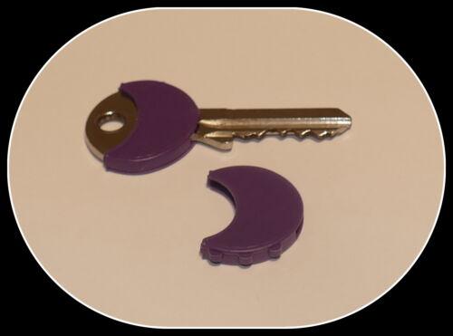 Größe 24mm 2 Stück Schlüsselkappen Schlüsselkennungen violett  0,50 €//Stück