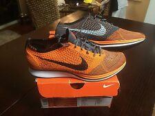 Original 2012 Olympic Nike Flyknit Racer Orange Grey Mens 11.5
