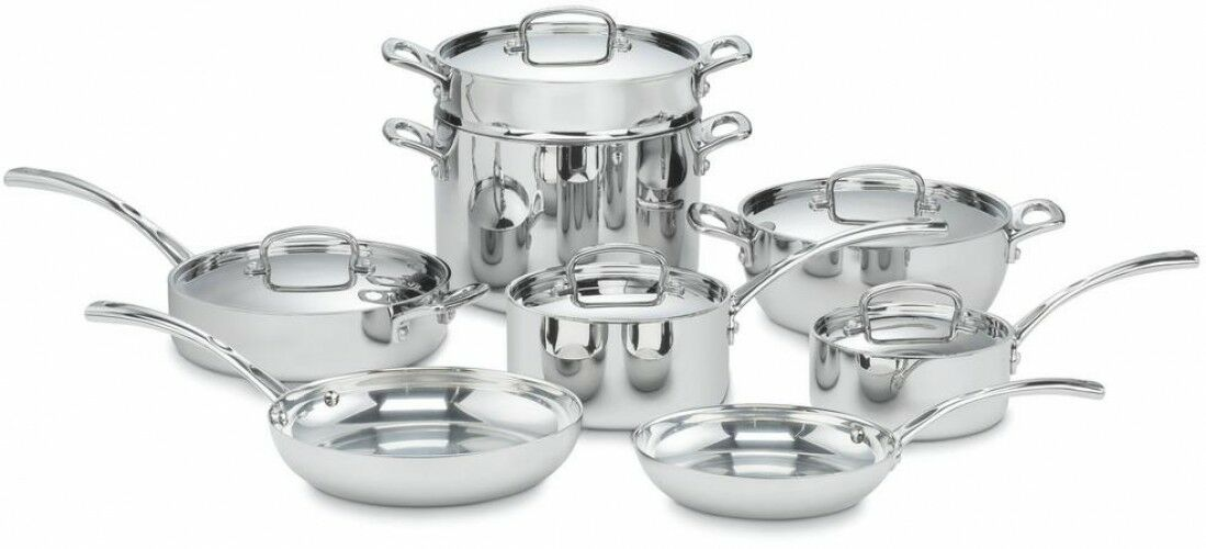 Cuisinart French Classic Cookware Set Lids 13-Piece Induction Stainless Steel