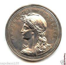 France. Medaille de Table Honneur au Merite Paris. Bronze argen gros module 53mm