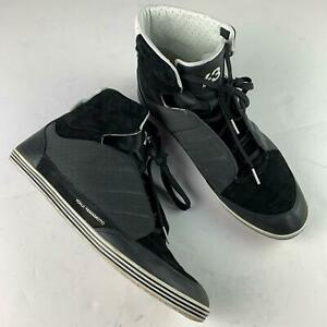 1e1be14efbd3e Yohji Yamamoto Honja Y 3 hi top Sneakers Leather Black white Men sz ...