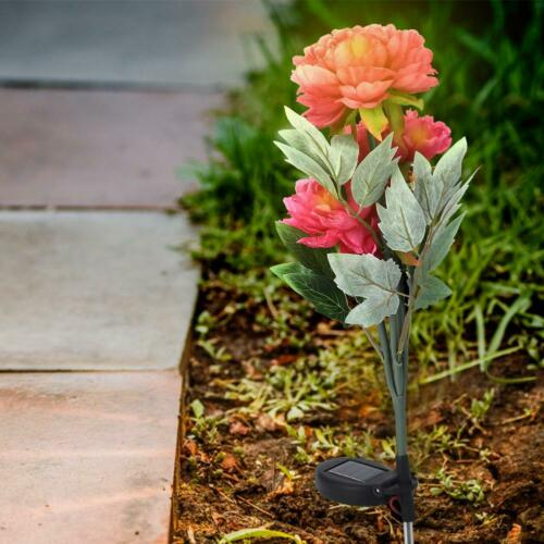 Yard Path Lawn Light LED Solar Power Landscape Lamp Flower Outdoor Garden Decor