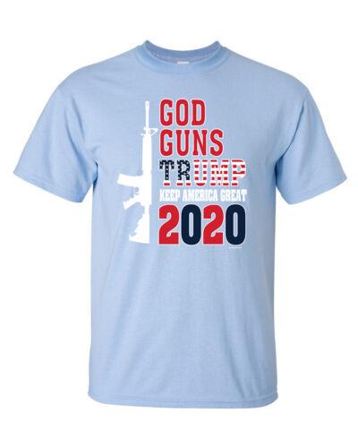 Political God Trump 2020 Vote Donald Trump Short Sleeve T-shirt Guns