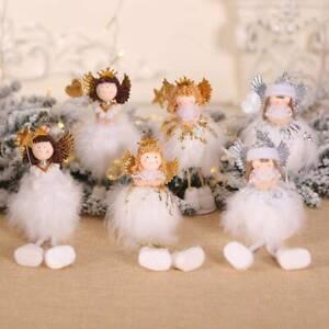 Regalo-di-Natale-da-Appendere-Albero-Natale-Ciondolo-Bambola-Angel-Ornamento-Casa-Tavolo-Decor