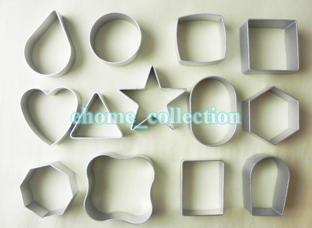 13 Various Shapes Cookie Metal Cutter Biscuit Mould Cake Pastry Baking Mold Tool