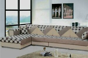 Quilted Microfiber Custom Sectional Sofa Couch Slipcovers Furniture