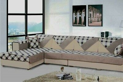 Wondrous Quilted Microfiber Custom Sectional Sofa Couch Slipcovers Furniture Protector Ebay Caraccident5 Cool Chair Designs And Ideas Caraccident5Info
