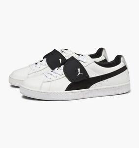 Détails sur Homme Puma x Karl Lagerfeld en daim blanc classique noir 50th Edition Nouveau 366314 01 afficher le titre d'origine