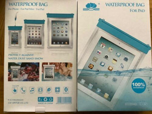 Waterproof Bag For iPad Tablets Galaxy Kindle Etc Large Size 31x22cm 1 Free