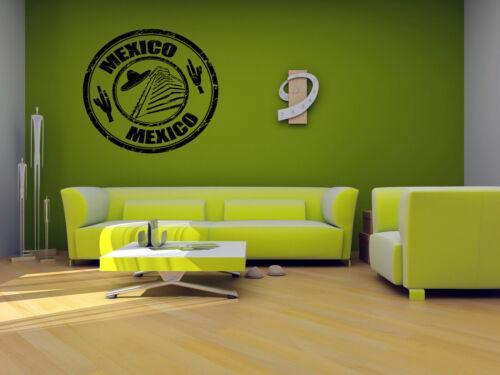 Wall Vinyl Sticker Room Decals Mural Design Mexico Stamp Sombrero Guitar bo1146