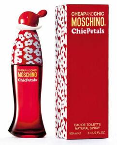 Detalles de Moschino Cheap And Chic Petals Eau de Toilette Edt Spray 100ml Mujer