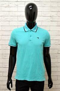 Maglia-Polo-Uomo-DIADORA-Shirt-Man-Taglia-Size-M-Cotone-Manica-Corta-Casual