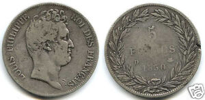 Louis-Philippe-The1st-1830-1848-5-Francs-without-le-I-1830-D-Lyon