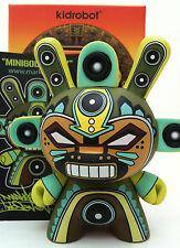 """DUNNY 3"""" AZTECA 2 SERIES MARKA27 MINIGOD GREEN 2/25 KIDROBOT 2011 TOY VINYL"""